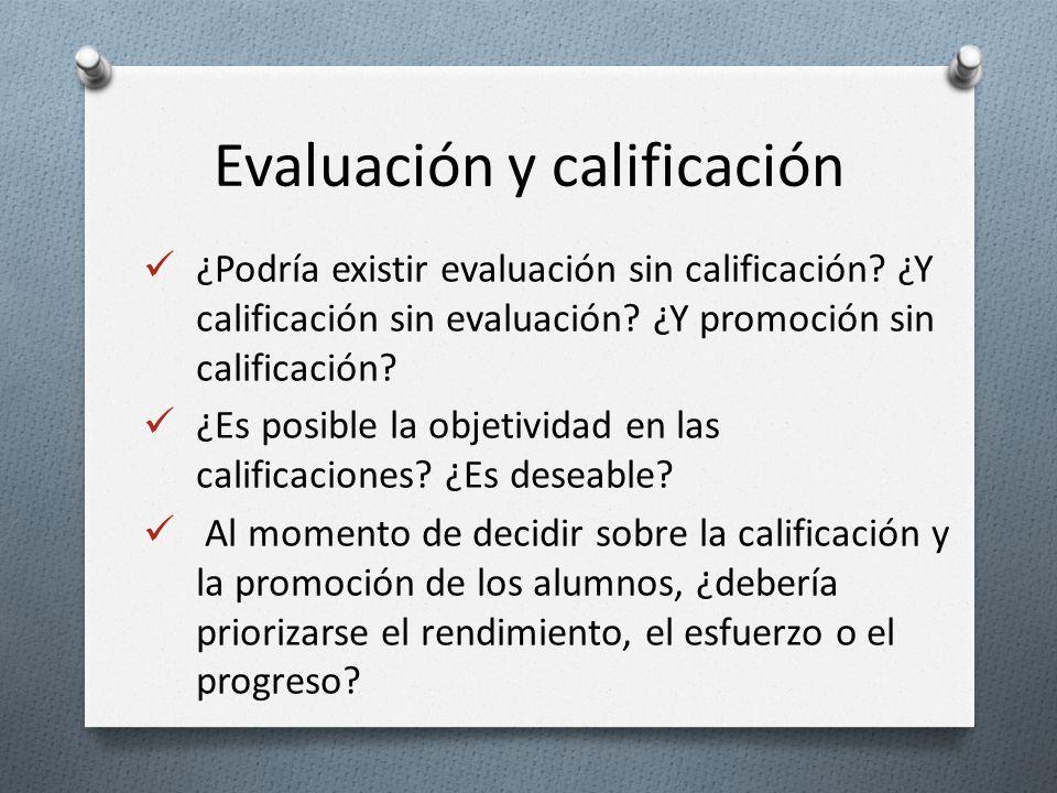 Evaluación y calificación