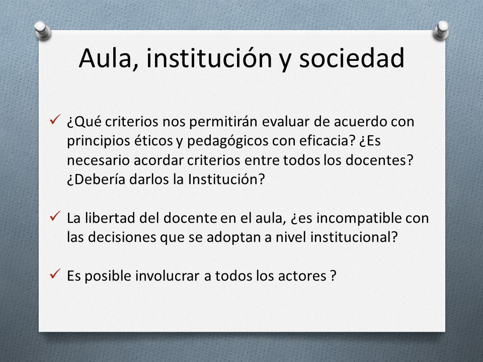 Aula, institución y sociedad
