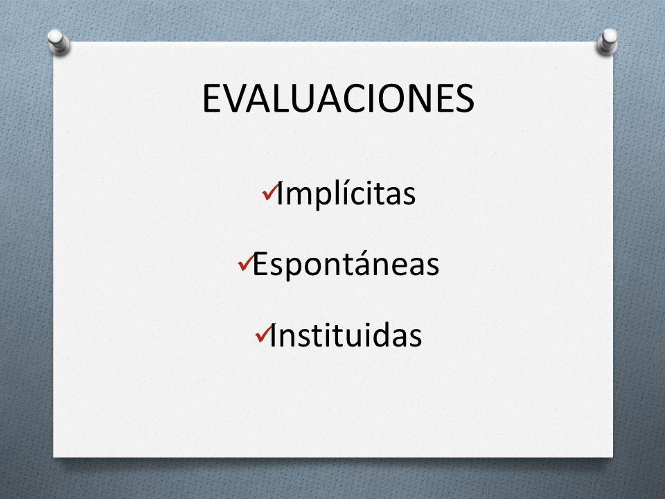 Implícitas Espontáneas Instituidas