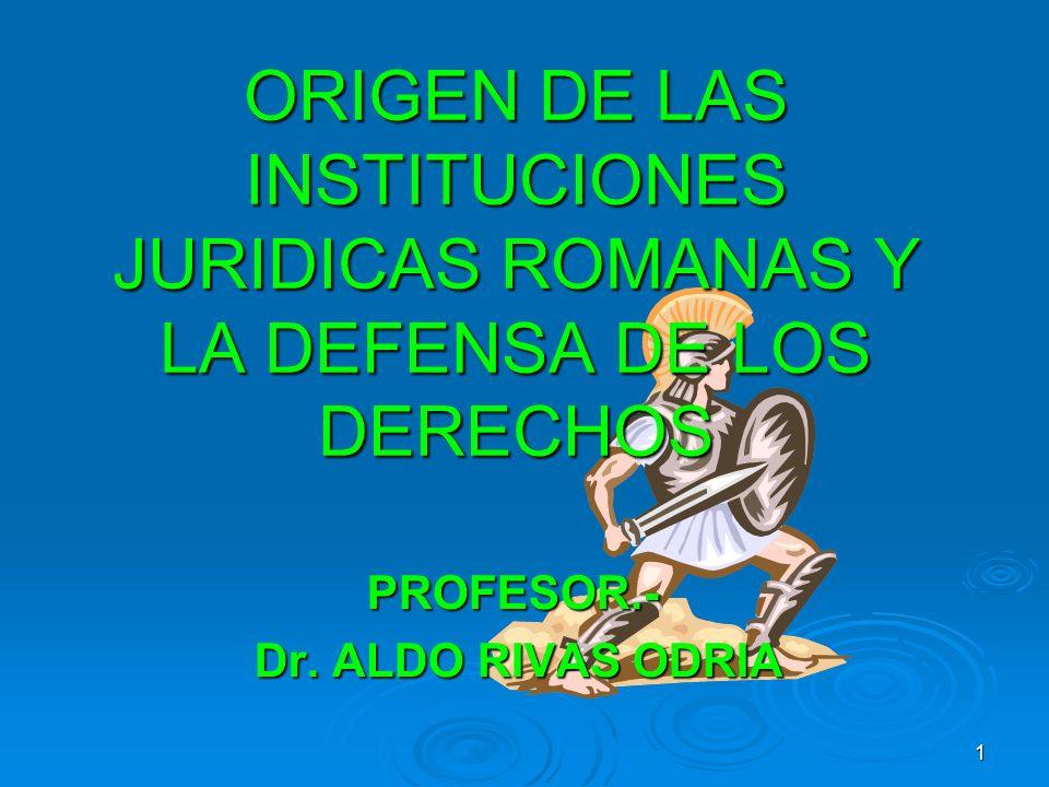PROFESOR.- Dr. ALDO RIVAS ODRIA