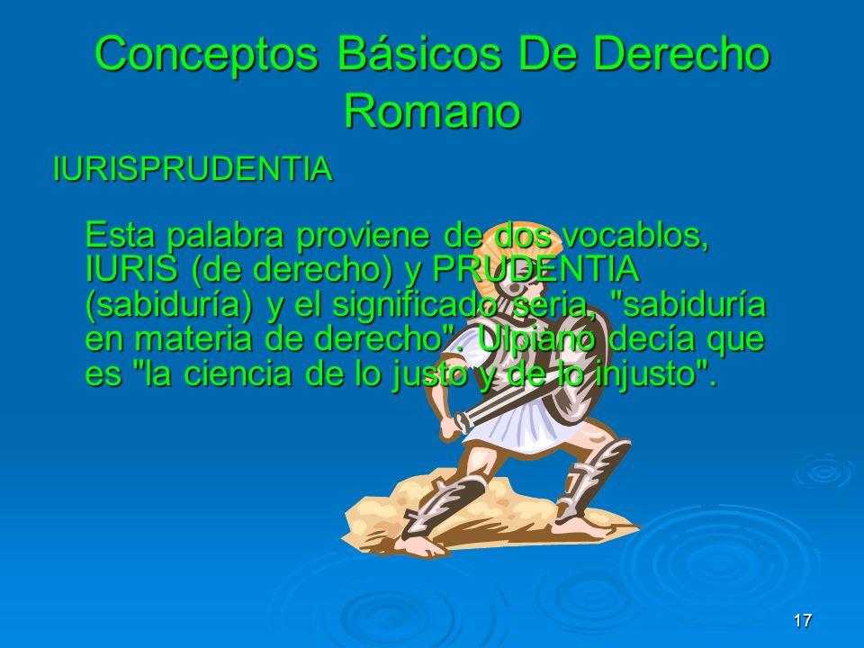 Conceptos Básicos De Derecho Romano