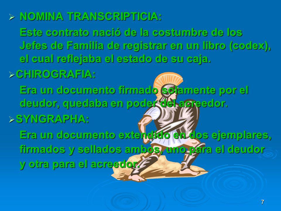 NOMINA TRANSCRIPTICIA: