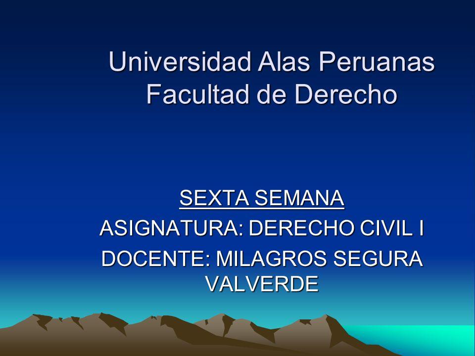 Universidad Alas Peruanas Facultad de Derecho