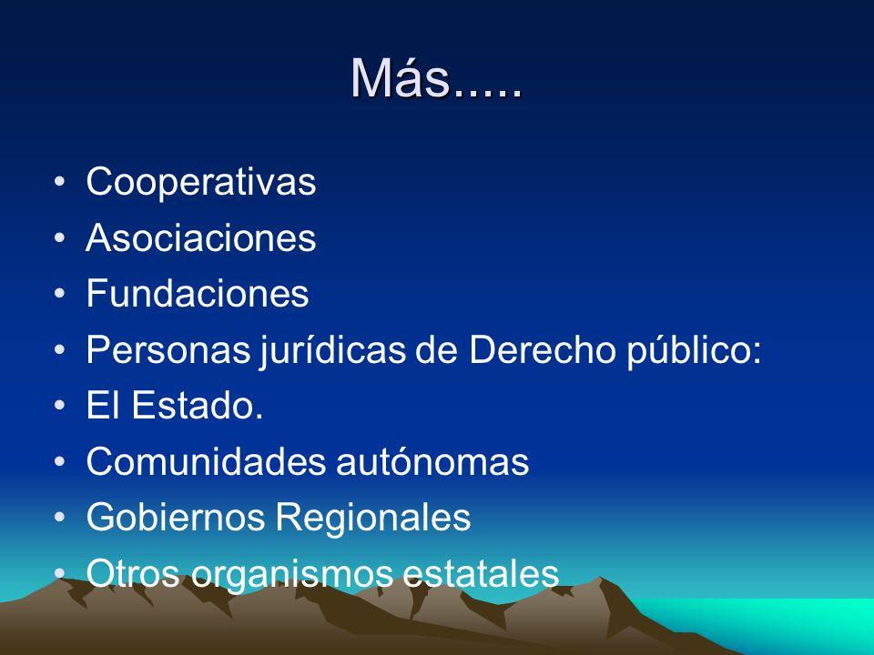 Más..... Cooperativas Asociaciones Fundaciones