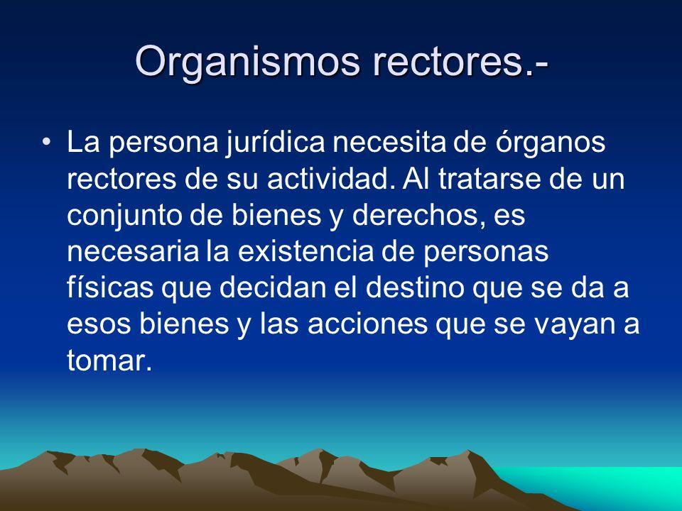 Organismos rectores.-