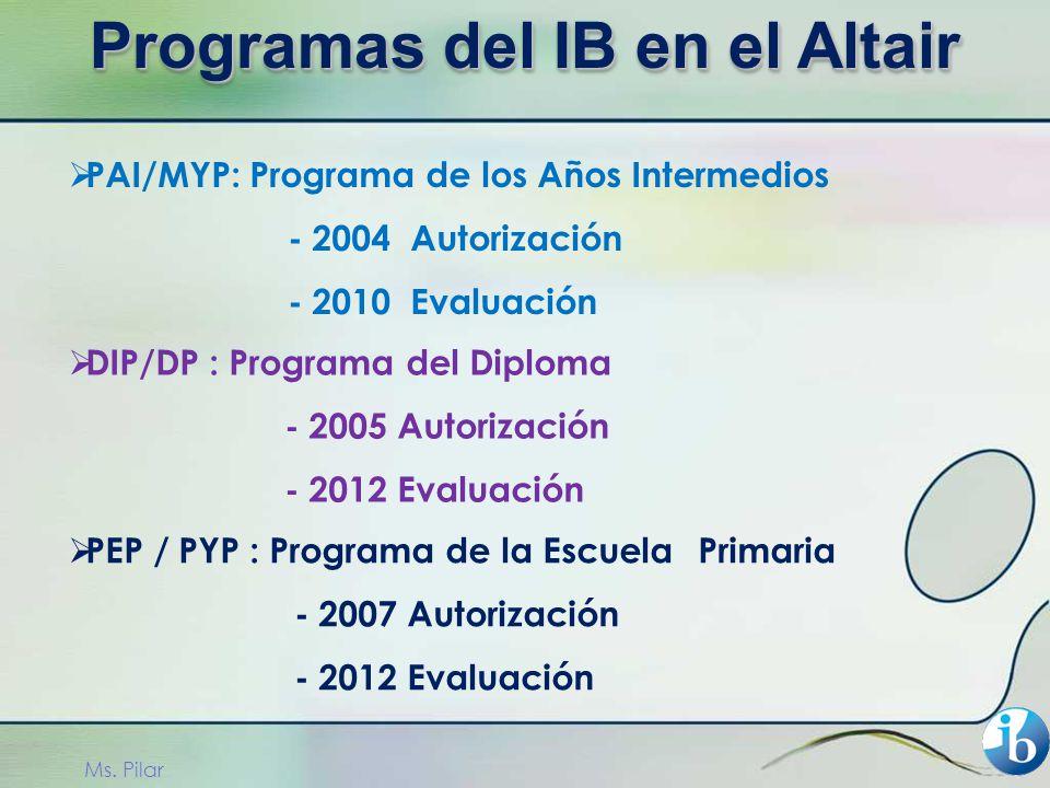 Programas del IB en el Altair