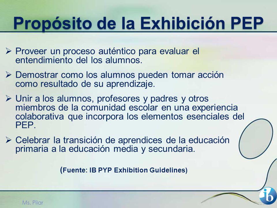 Propósito de la Exhibición PEP