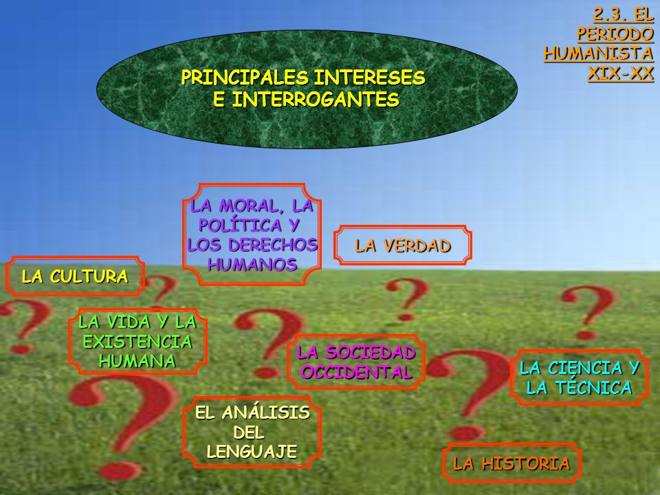 PRINCIPALES INTERESES
