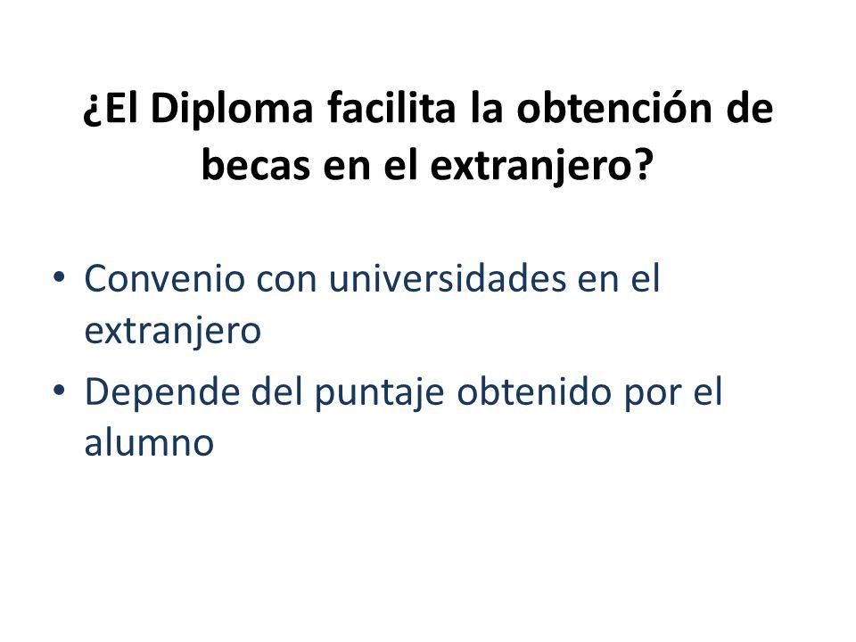 ¿El Diploma facilita la obtención de becas en el extranjero