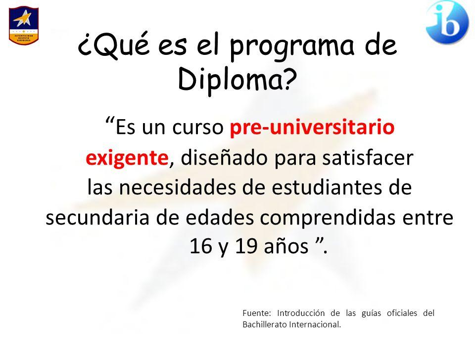 ¿Qué es el programa de Diploma