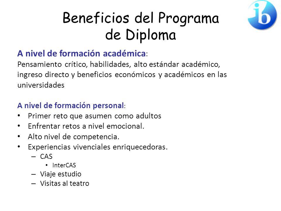 Beneficios del Programa de Diploma