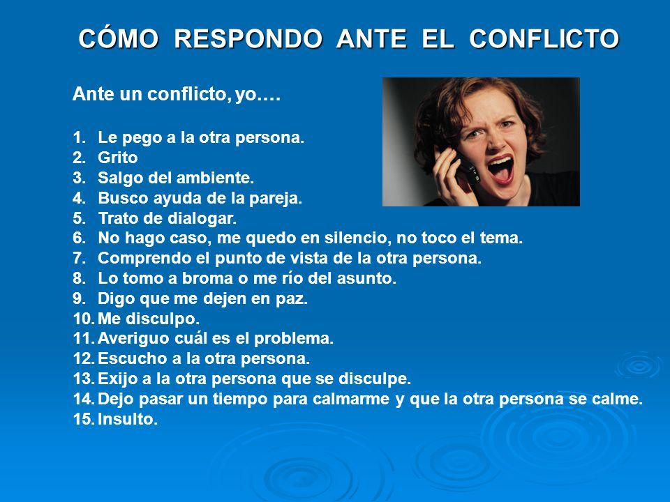 CÓMO RESPONDO ANTE EL CONFLICTO