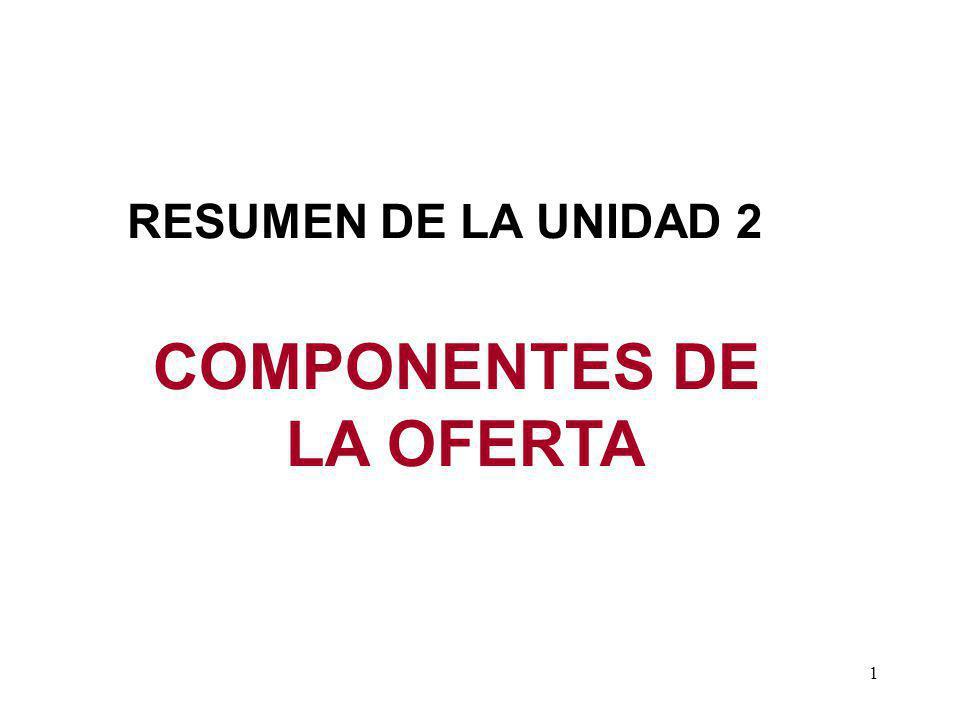 COMPONENTES DE LA OFERTA