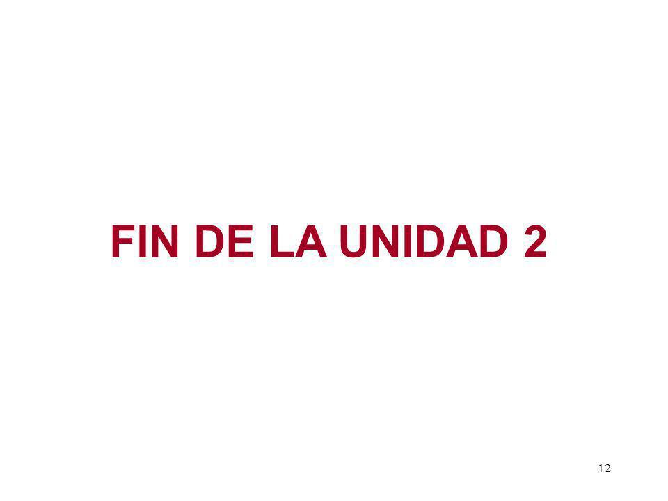 FIN DE LA UNIDAD 2