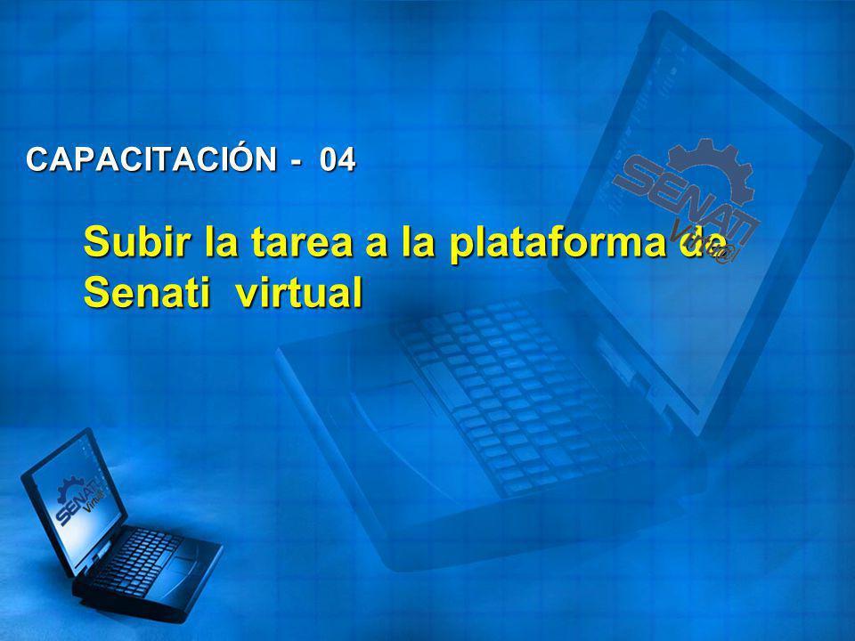 Subir la tarea a la plataforma de Senati virtual