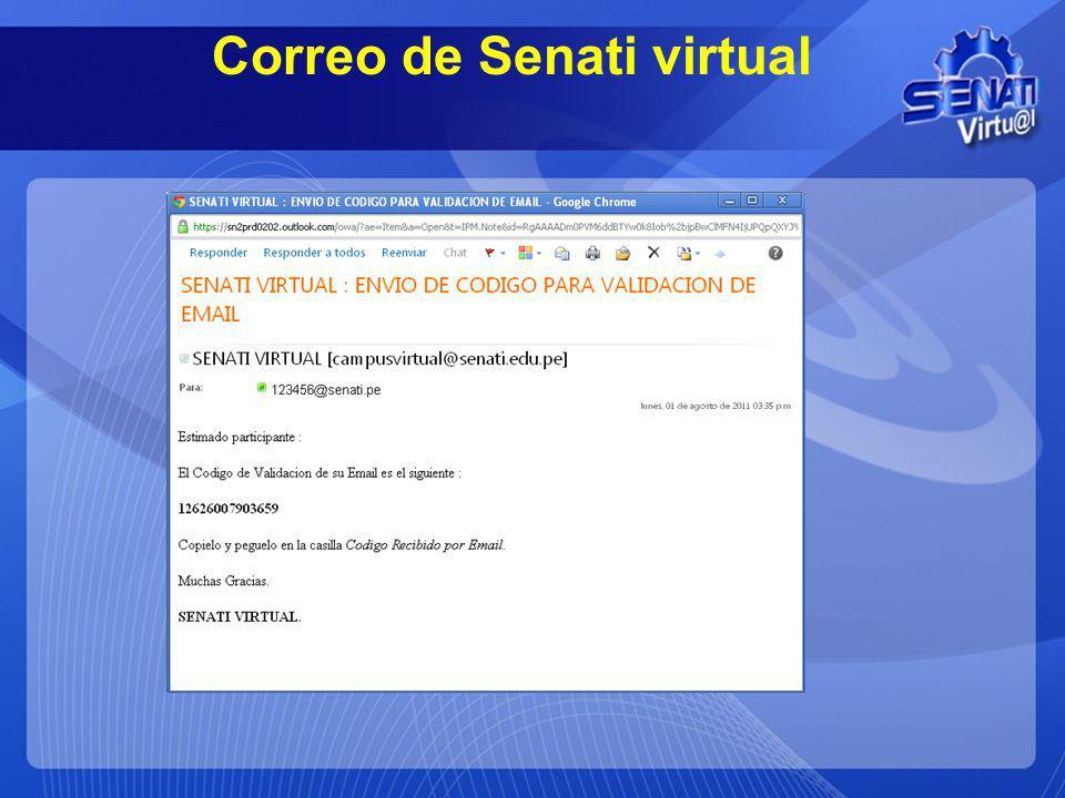 Correo de Senati virtual