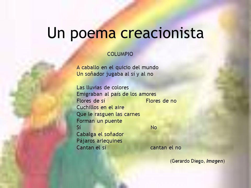 Un poema creacionista COLUMPIO A caballo en el quicio del mundo