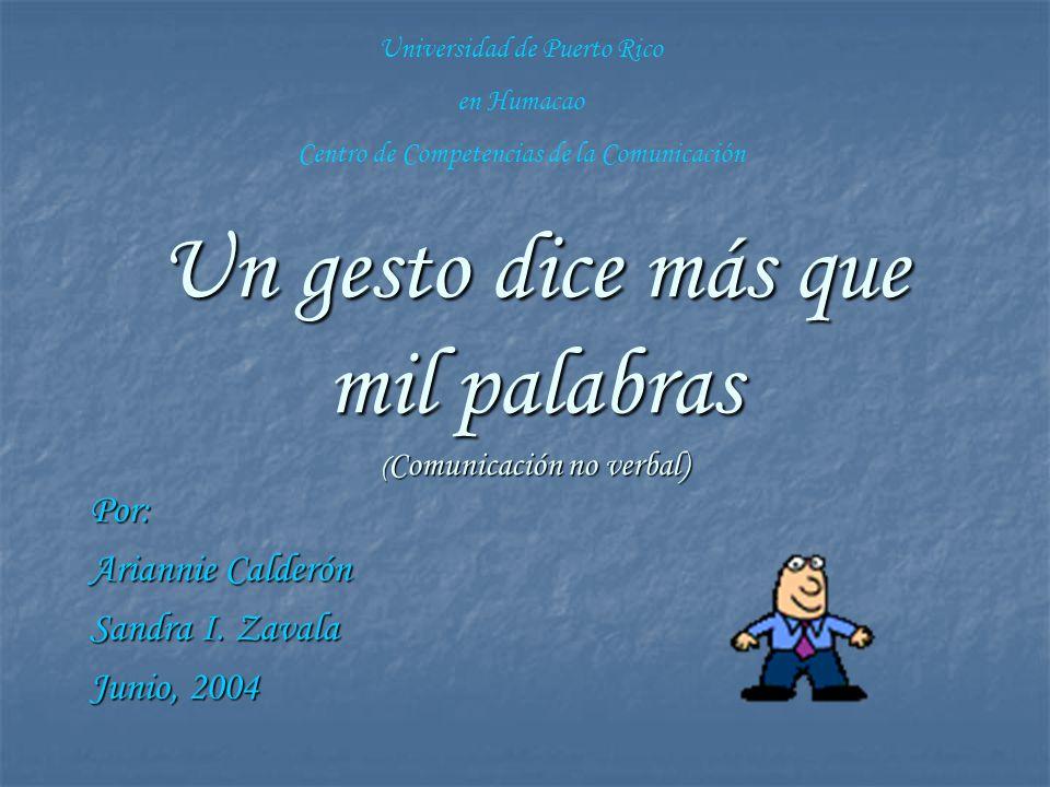 Un gesto dice más que mil palabras (Comunicación no verbal)