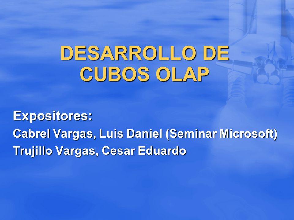 DESARROLLO DE CUBOS OLAP