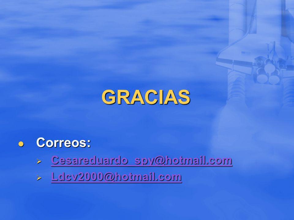 GRACIAS Correos: Cesareduardo_spy@hotmail.com Ldcv2000@hotmail.com