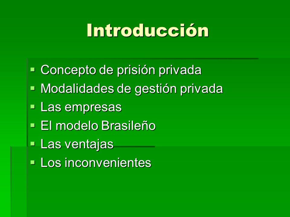 Introducción Concepto de prisión privada