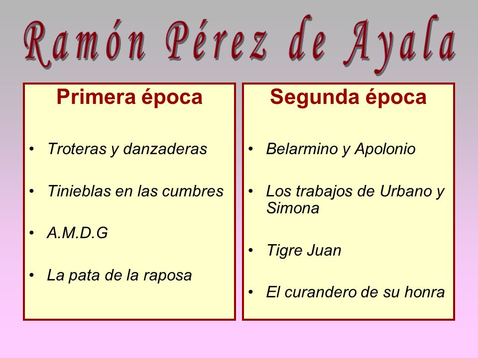 Ramón Pérez de Ayala Primera época Segunda época Troteras y danzaderas