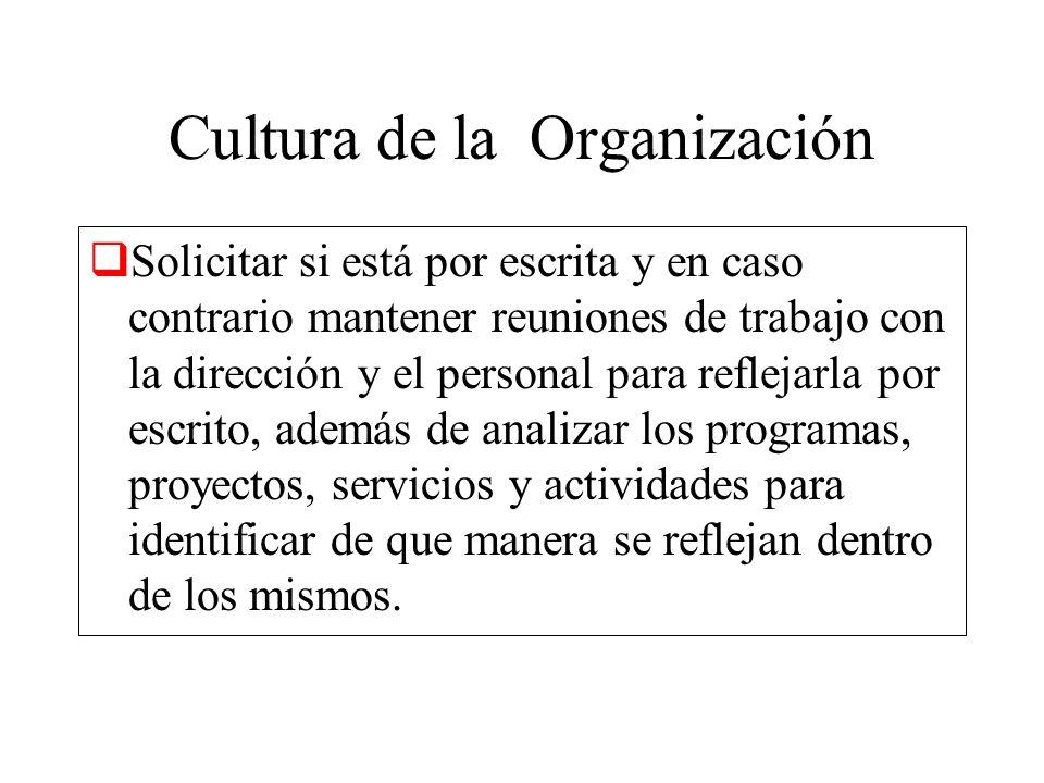 Cultura de la Organización