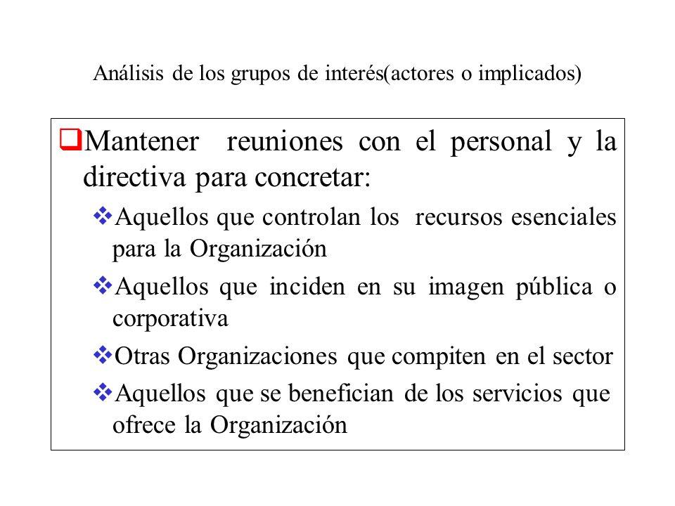 Análisis de los grupos de interés(actores o implicados)