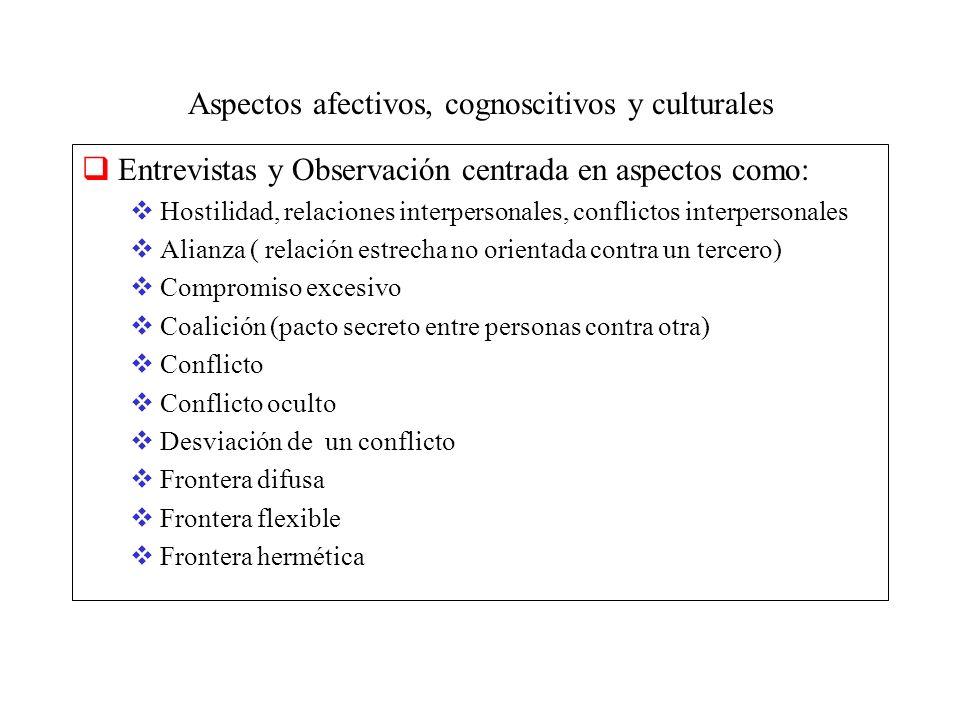 Aspectos afectivos, cognoscitivos y culturales