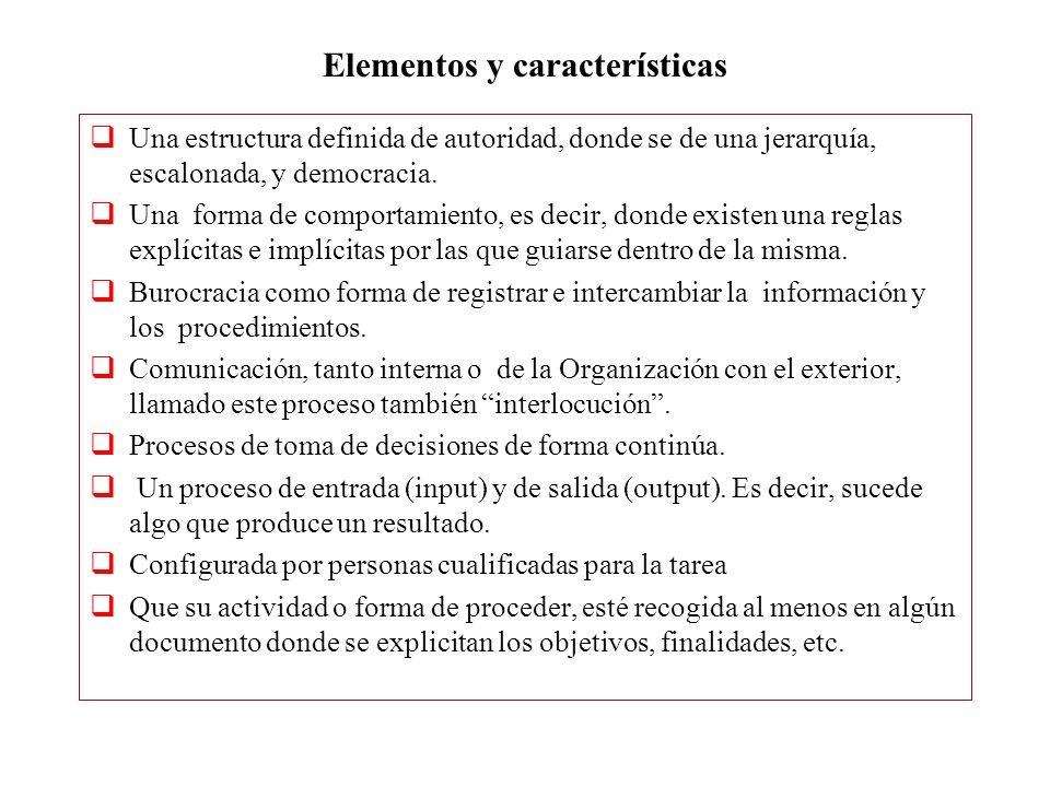 Elementos y características