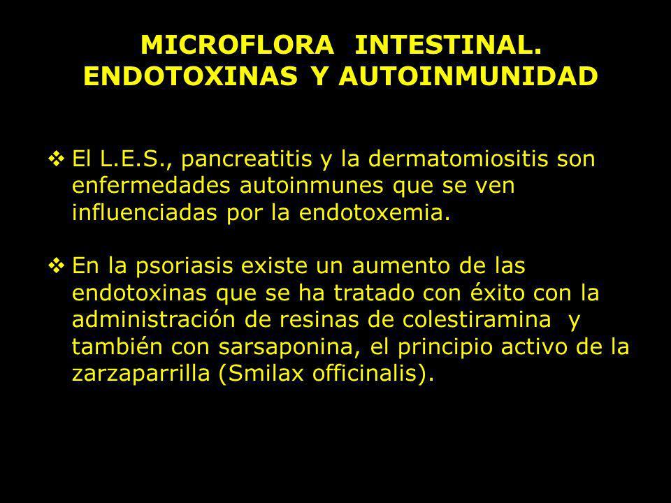 MICROFLORA INTESTINAL. ENDOTOXINAS Y AUTOINMUNIDAD