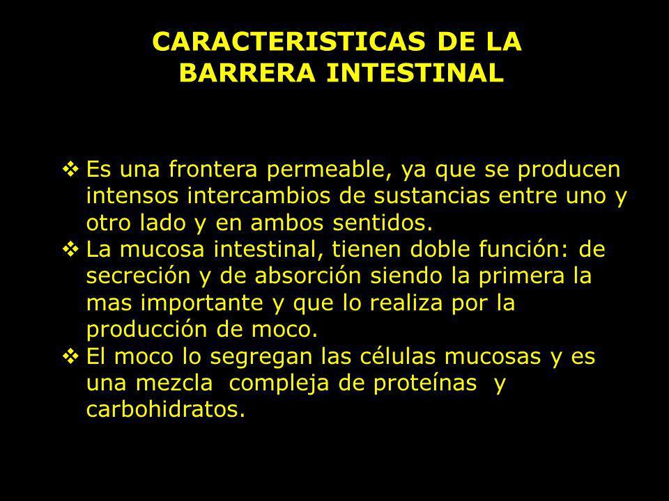 CARACTERISTICAS DE LA BARRERA INTESTINAL
