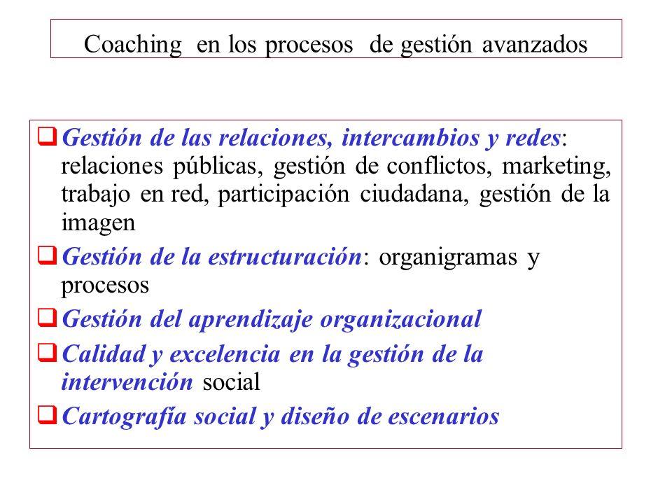 Coaching en los procesos de gestión avanzados