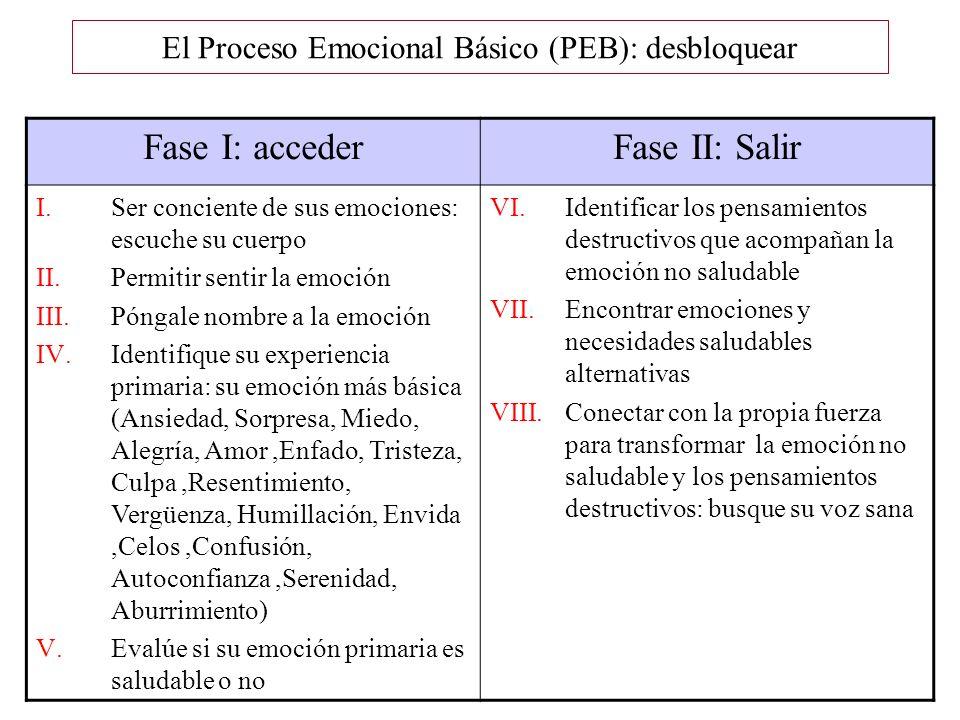 El Proceso Emocional Básico (PEB): desbloquear