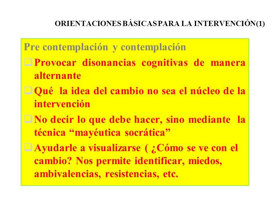 ORIENTACIONES BÁSICAS PARA LA INTERVENCIÓN(1)