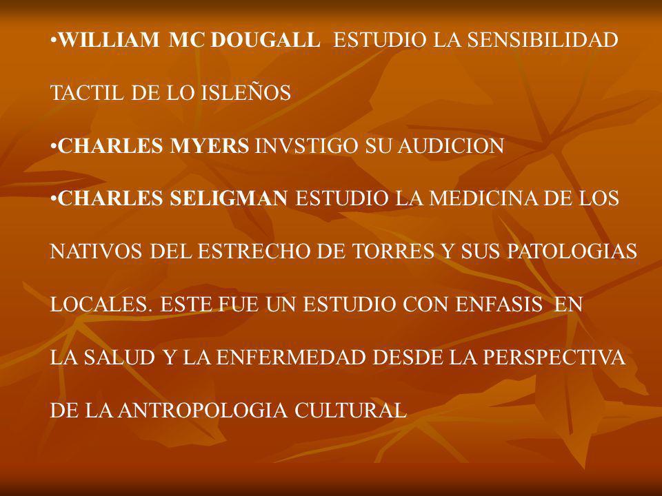 WILLIAM MC DOUGALL ESTUDIO LA SENSIBILIDAD