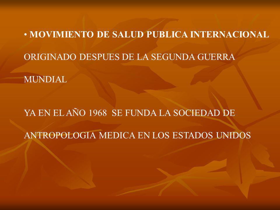 MOVIMIENTO DE SALUD PUBLICA INTERNACIONAL