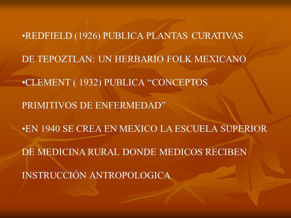 REDFIELD (1926) PUBLICA PLANTAS CURATIVAS
