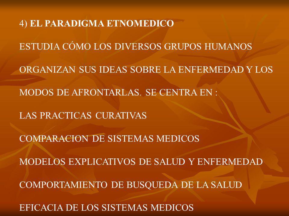 4) EL PARADIGMA ETNOMEDICO