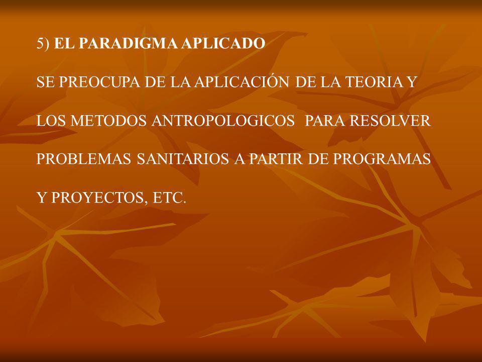5) EL PARADIGMA APLICADO