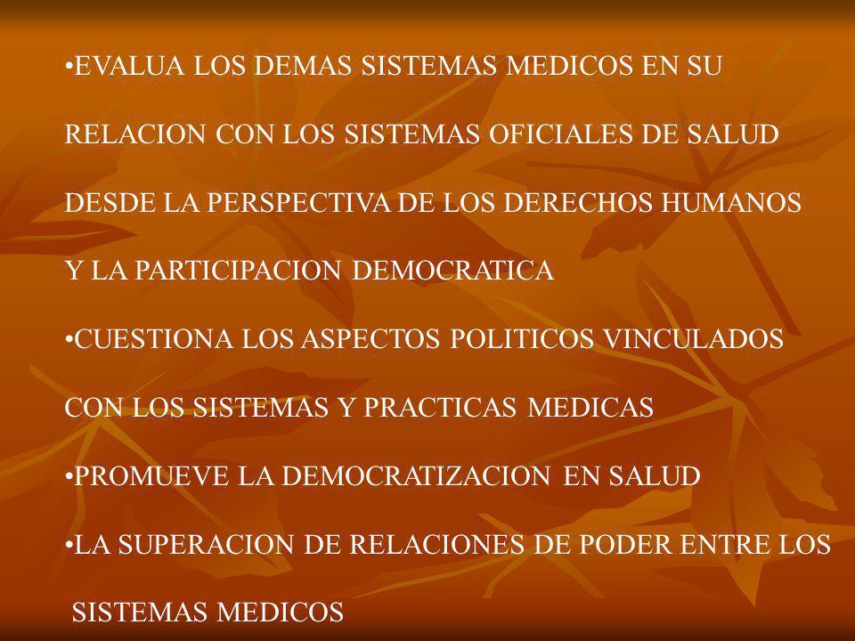 EVALUA LOS DEMAS SISTEMAS MEDICOS EN SU