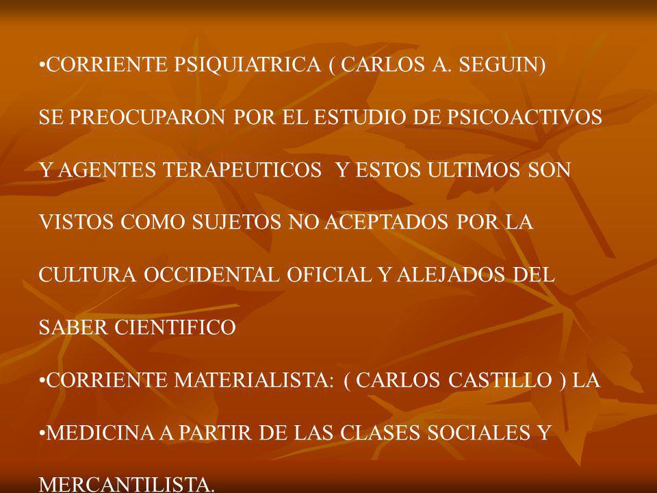 CORRIENTE PSIQUIATRICA ( CARLOS A. SEGUIN)