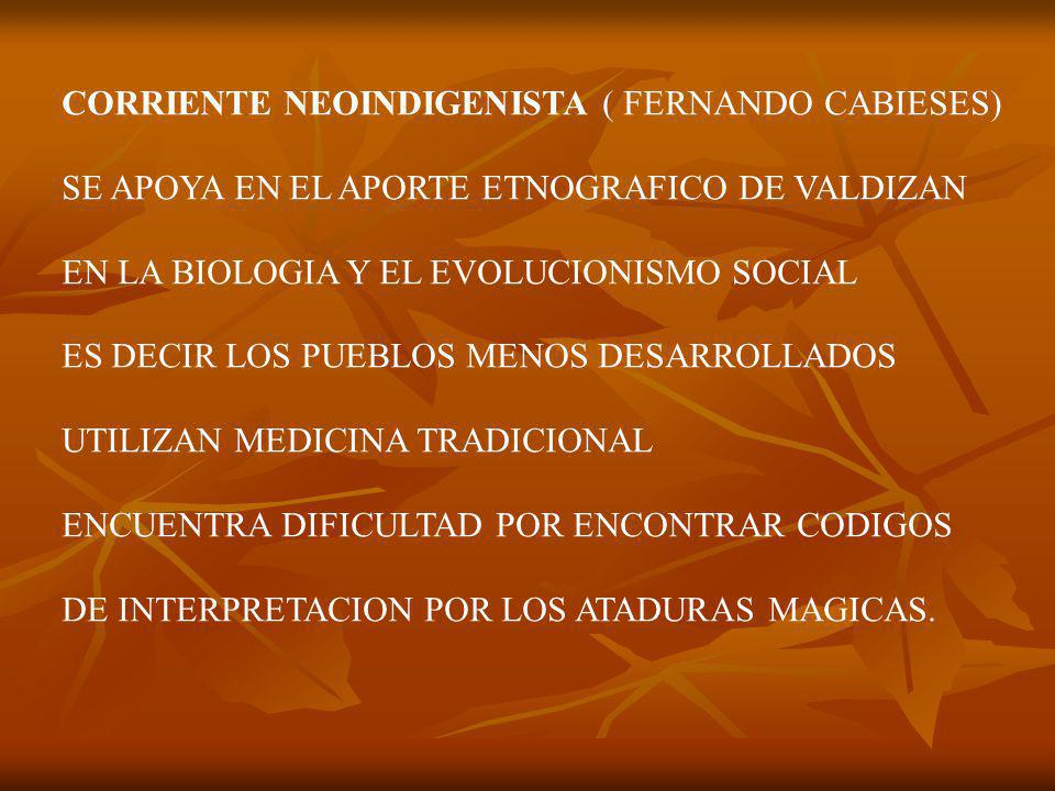 CORRIENTE NEOINDIGENISTA ( FERNANDO CABIESES)