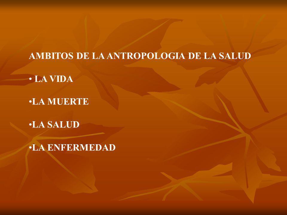 AMBITOS DE LA ANTROPOLOGIA DE LA SALUD