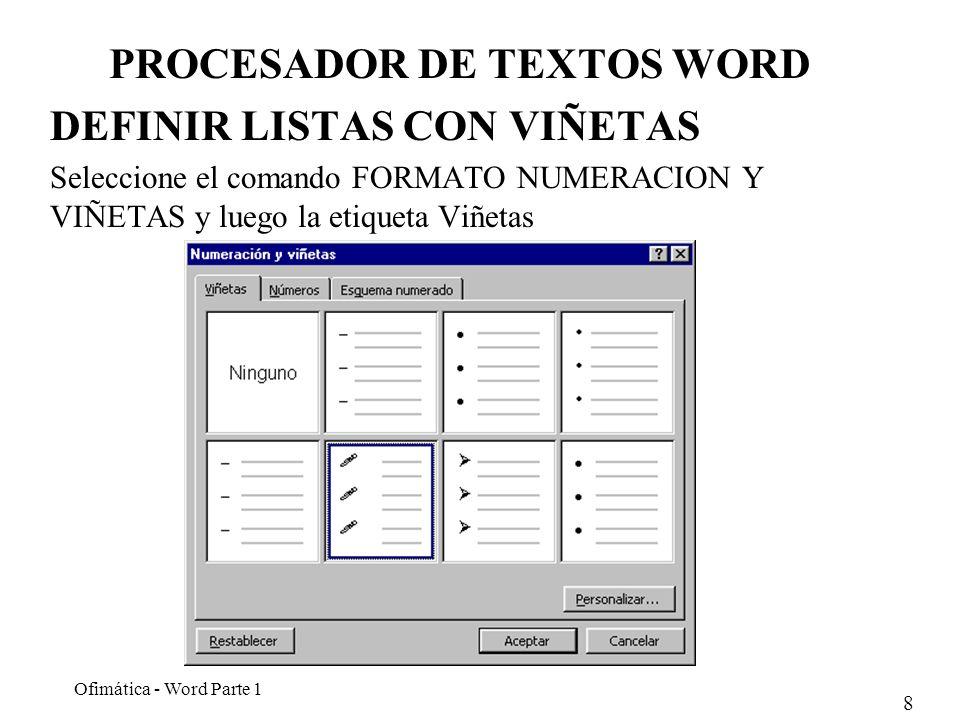 PROCESADOR DE TEXTOS WORD