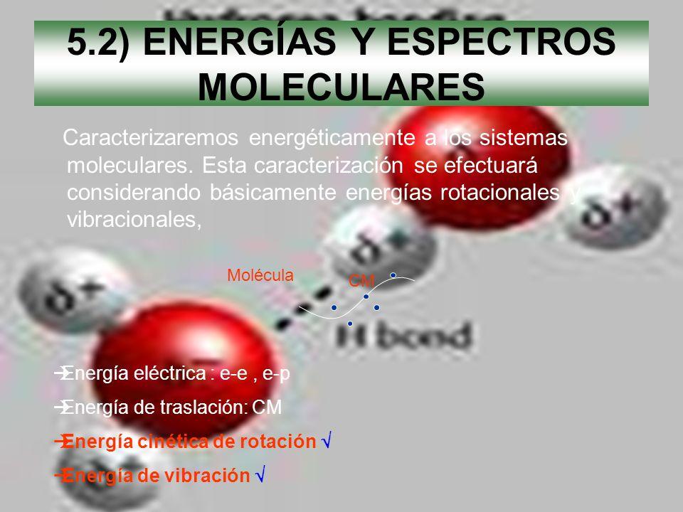 5.2) ENERGÍAS Y ESPECTROS MOLECULARES
