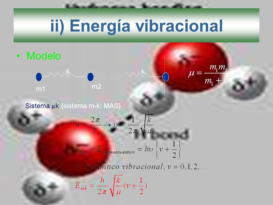 ii) Energía vibracional