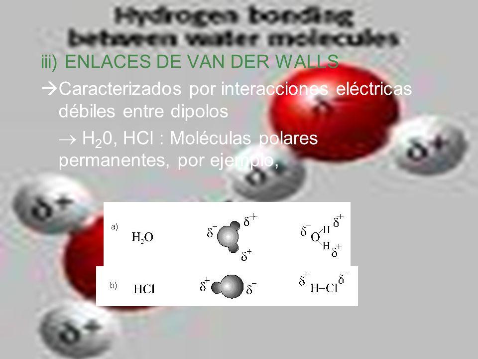 iii) ENLACES DE VAN DER WALLS