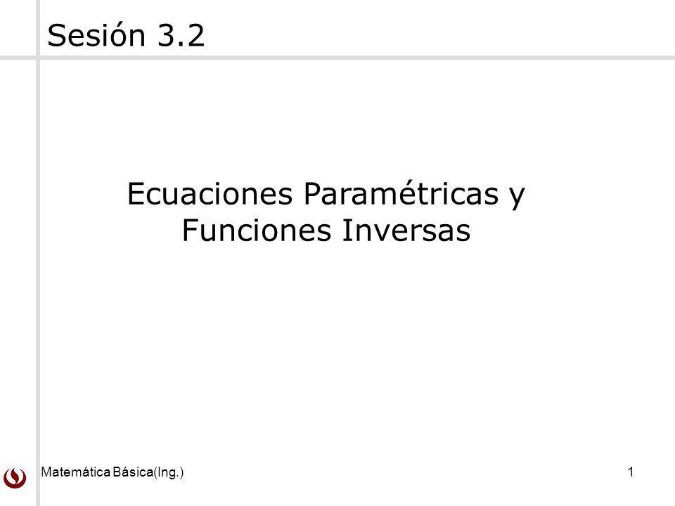 Ecuaciones Paramétricas y