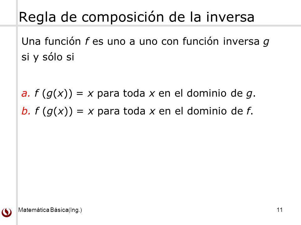 Regla de composición de la inversa